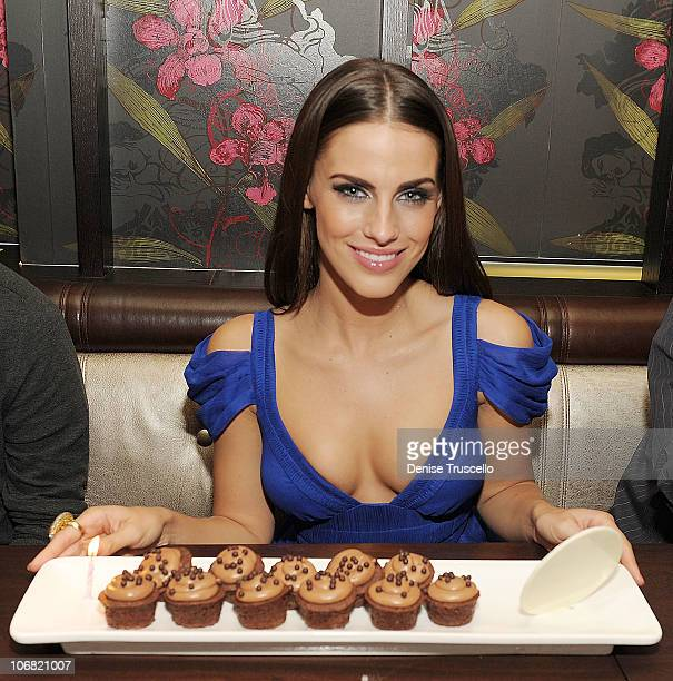 Jessica Lowndes of 90210 has her Birthday dinner at Social House at Crystals at CityCenter on November 13 2010 in Las Vegas Nevada