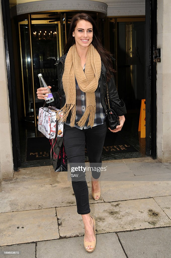 Jessica Lowndes pictured leaving the Millennium London Hotel on May 30, 2013 in London, England.