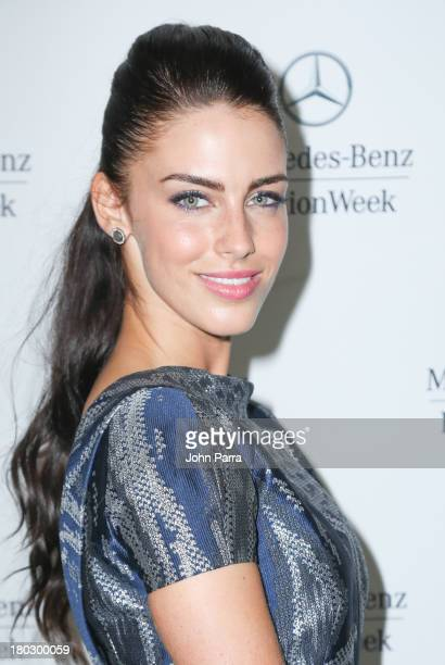 Jessica Lowndes seen at Lincoln Center during Spring 2014 MercedesBenz Fashion Week at Lincoln Center for the Performing Arts on September 10 2013 in...
