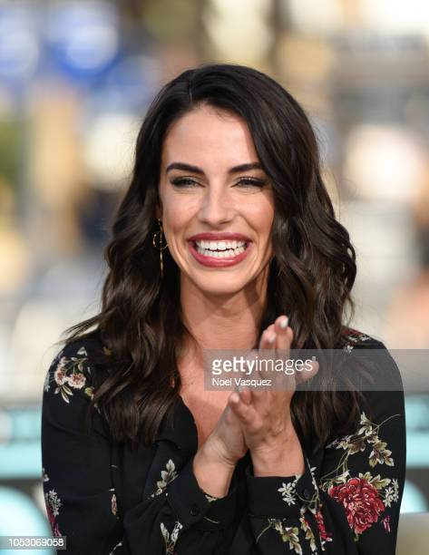 Jessica Lowndes visits Extra at Universal Studios Hollywood on October 24 2018 in Universal City California