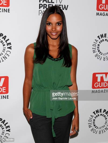 Jessica Lucas arrives at The PaleyFest and TV Guide Magazine's The CW Fall TV Preview Party at The Paley Center for Media on September 14 2009 in...
