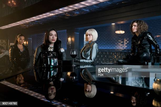 Jessica Lucas Crystal Reed Erin Richards and Camren Bicondova in the A Dark Knight Queen Takes Knight episode of GOTHAM airing Thursday Dec 7 on FOX