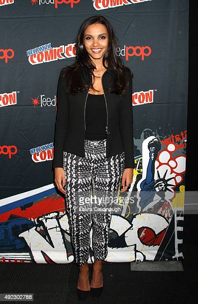 Jessica Lucas of 'Gotham' attends New York Comic Con 2015 Day 4 at The Jacob K Javits Convention Center on October 11 2015 in New York City