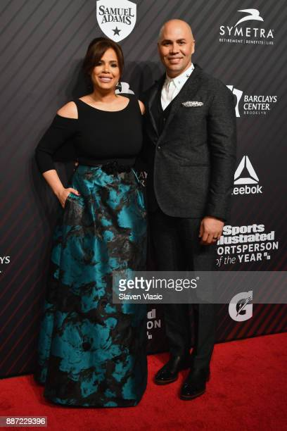 Jessica Lugo and Carlos Beltran attend SPORTS ILLUSTRATED 2017 Sportsperson of the Year Show on December 5 2017 at Barclays Center in New York City