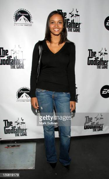 Jessica Lukas during World Premiere of The Godfather the Game on XBOX 360 Arrivals at Stone Rose Lounge in Los Angeles California United States