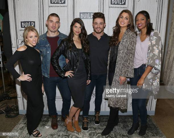 Jessica Mack Kerry Degman Rachyl Degman Jackson Boyd Alexandra Harper and Alisa Beth from the cast of CMT's 'Music City' visit the Build Series at...