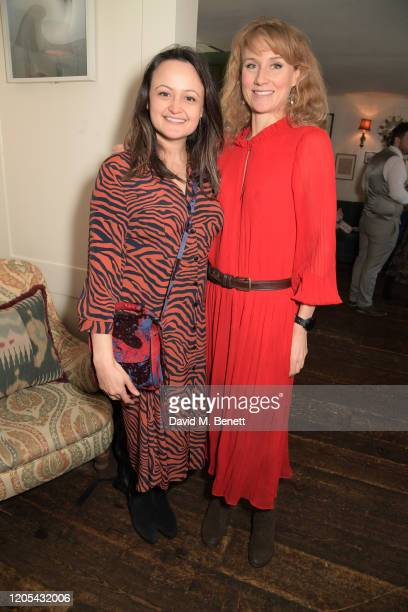 Jessica Malik and Jessica Swale attend a drinks reception at Soho House to celebrate the announcement of a brandnew childcare facility at Warner Bros...