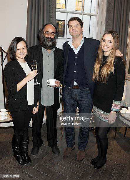 Jessica Malik Art Malik Barnaby Thompson and Esme Thompson attend the Dreamworks PreBAFTA Tea Party in celebration of 'The Help' and 'War Horse' at...
