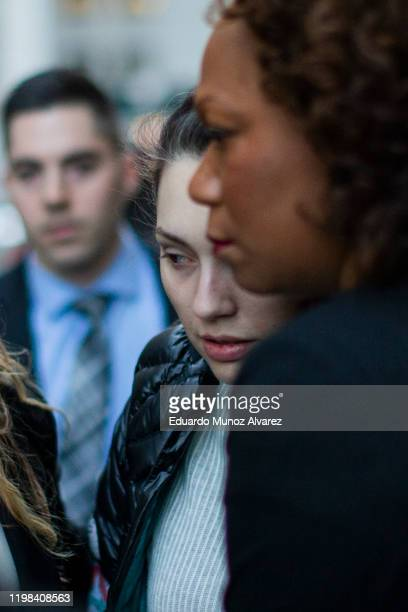 Jessica Mann exits the Manhattan criminal court after testifying against film producer Harvey Weinstein for his sexual assault trial at Manhattan...