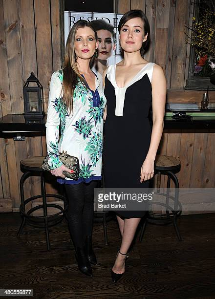 Jessica Mannsfield and Actress Megan Boone attend the Resident Magazine March 2014 issue celebration at Brannon's NYC on March 25 2014 in New York...