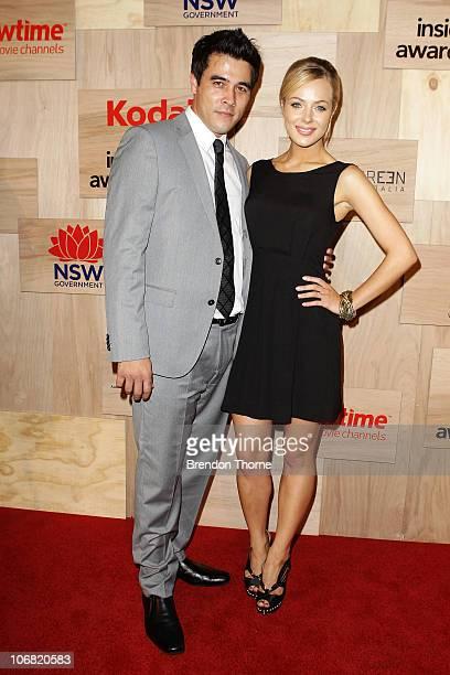 Jessica Marais and James Stewart arrives at the 2010 Inside Film Awards at the City Recital Hall on November 14 2010 in Sydney Australia