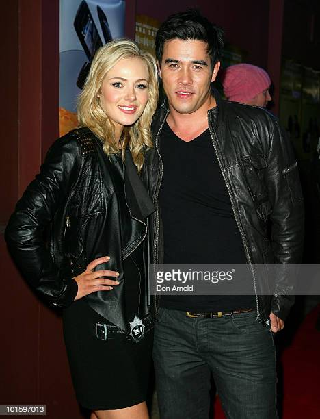Jessica Marais and James Stewart attend the premiere of 'Accidents Happen' at The Cremorne Orpheum on April 14 2010 in Sydney Australia