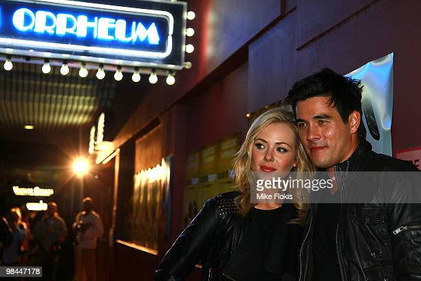 Jessica Marais and James Stewart attend the premiere of Accidents Happen at The Cremorne Orpheum on April 14 2010 in Sydney Australia