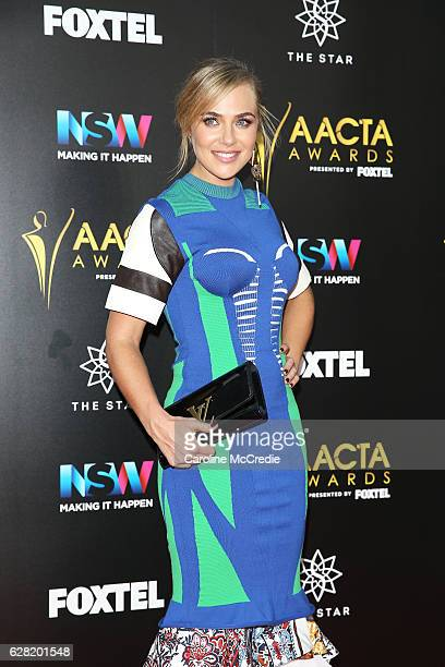 Jessica Marais arrives ahead of the 6th AACTA Awards Presented by Foxtel at The Star on December 7 2016 in Sydney Australia