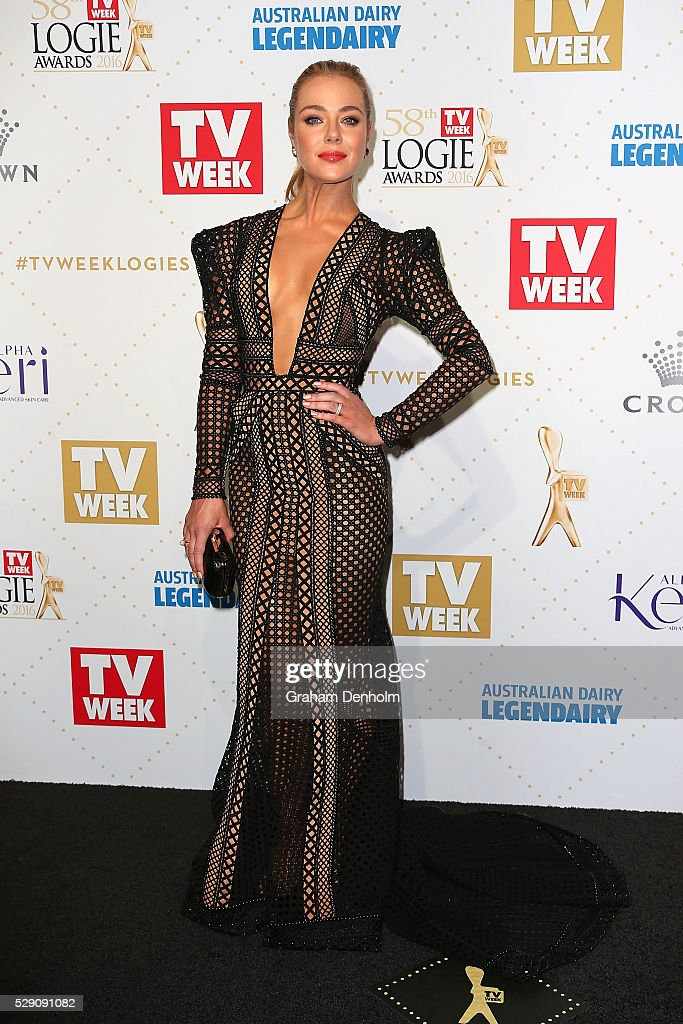 Jessica Marais arrives at the 58th Annual Logie Awards at Crown Palladium on May 8, 2016 in Melbourne, Australia.