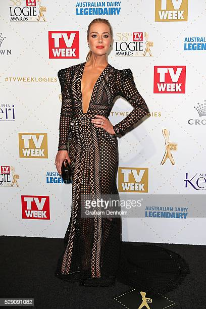 Jessica Marais arrives at the 58th Annual Logie Awards at Crown Palladium on May 8 2016 in Melbourne Australia