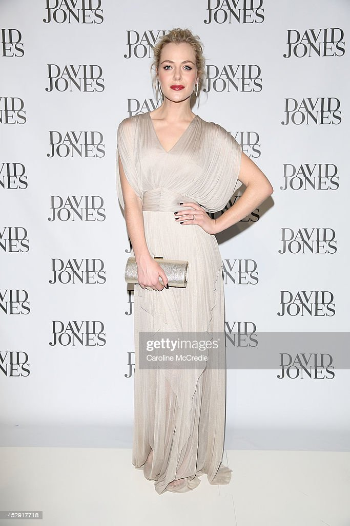 Jessica Marais arrives at the David Jones Spring/Summer 2014 Collection Launch at David Jones Elizabeth Street Store on July 30, 2014 in Sydney, Australia.