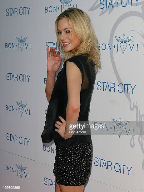 Jessica Marais arrives for an exclusive Bon Jovi concert at Star City on December 15 2010 in Sydney Australia
