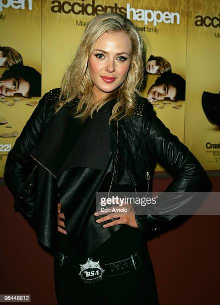 Jessica Marais attends the premiere of 'Accidents Happen' at The Cremorne Orpheum on April 14 2010 in Sydney Australia