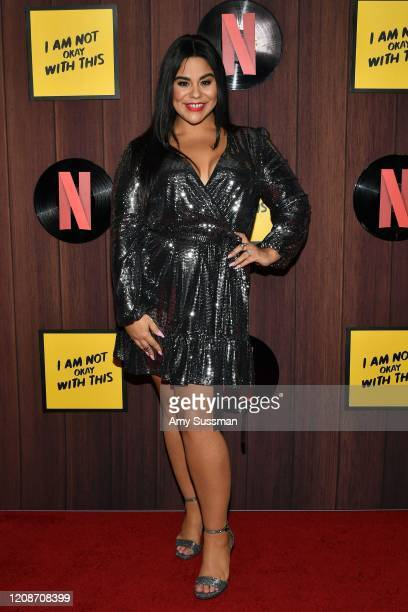 Jessica Marie Garcia attends Netflix's I Am Not Okay With This Photocall at The London West Hollywood on February 25 2020 in West Hollywood California