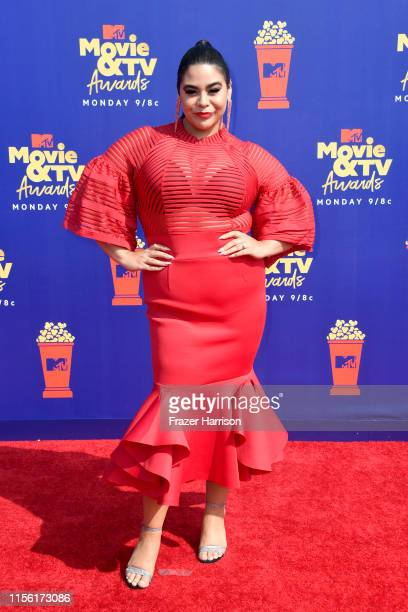 Jessica Marie Garcia attends the 2019 MTV Movie and TV Awards at Barker Hangar on June 15 2019 in Santa Monica California