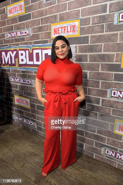 Jessica Marie Garcia attends the 'On My Block' S2 Launch Event at Petty Cash Taqueria on March 27 2019 in Los Angeles California