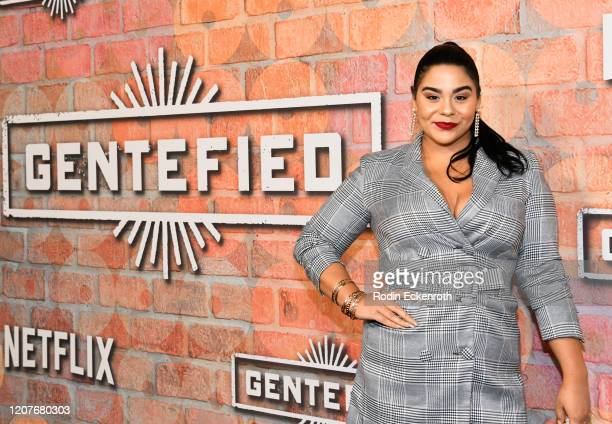 Jessica Marie Garcia attends the premiere of Netflix's Gentefied at Plaza de la Raza on February 20 2020 in Los Angeles California