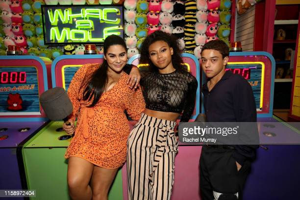 Jessica Marie Garcia Sierra Capri and Jason Genao attend the Stranger Things Season 3 World Premiere on June 28 2019 in Santa Monica California