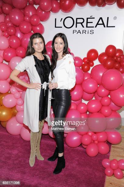 Jessica Markowski and Amanda Hogan attend the L'Oreal Paris Paints Colorista launch event at West Edge on February 13 2017 in New York City