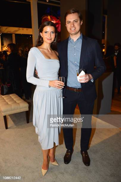 Jessica Markowski and Cole Maritz attend Wendy Goodman and Zac Posen Host Young Collector's Night at the Winter Show A Benefit For East Side House at...