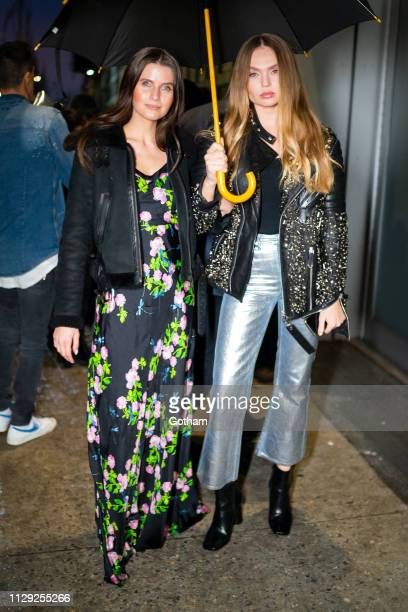 Jessica Markowski and Elena Matei are seen in Chelsea on February 12 2019 in New York City