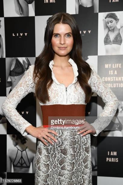 Jessica Markowski attends as Angel Sara Sampaio designer Lisa Chavy introduce LIVY at Landmarc West Broadway on February 12 2019 in New York City