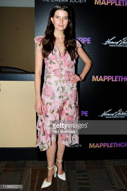Jessica Markowski attends Samuel Goldwyn Films With The Cinema Society Host A Special Screening Of Mapplethorpe at Cinepolis Chelsea on February 14...