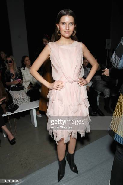 Jessica Markowski attends the Rosa Cha front row during New York Fashion Week The Shows at Gallery I at Spring Studios on February 13 2019 in New...