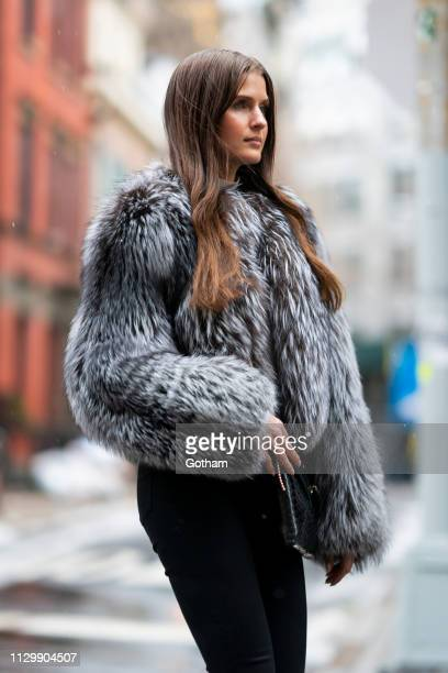 Jessica Markowski is seen in the West Village on February 13 2019 in New York City