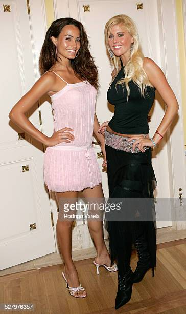 Jessica Mas and Barbie Simons during AE Mundo and The History Channel Party at Casa Casuarina in Miami Beach Florida United States