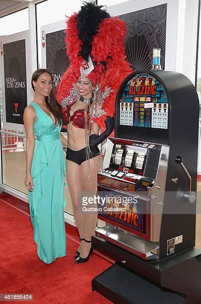Jessica Mas attends Premiere of Telemundos Reina De Corazones at Port of Miami on July 7 2014 in Miami Florida