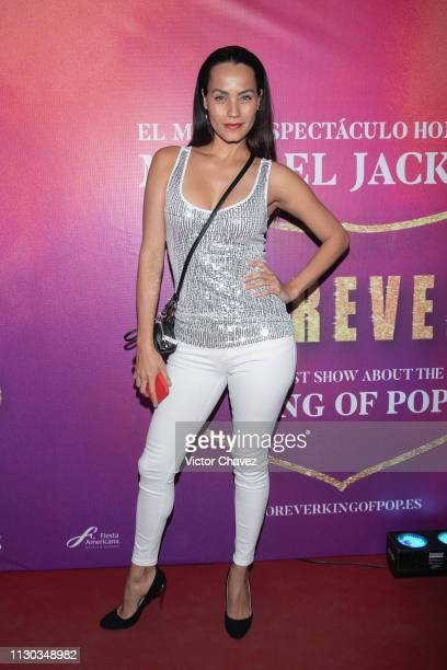 Jessica Mas attends the show Forever The Best Show About The King of Pop at Centro Cultural Teatro 1 on March 13 2019 in Mexico City Mexico