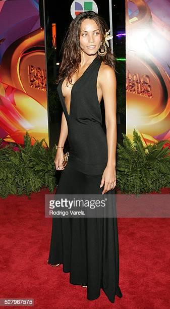 Jessica Mas during 2005 Premio Lo Nuestro Awards Red Carpet at American Airlines Arena in Miami Florida United States