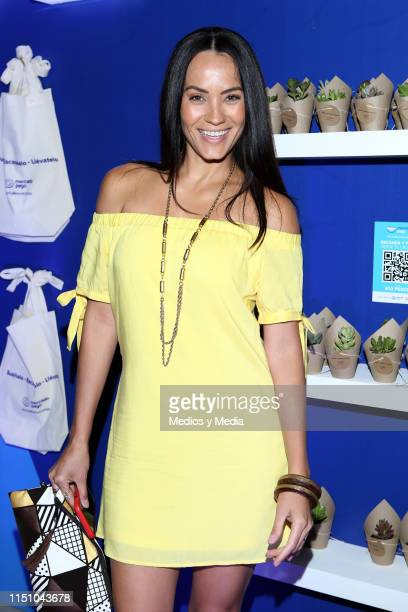 Jessica Mas poses for a photo during the red carpet of Mercado Pago Exposition on May 21 2019 in Mexico City Mexico