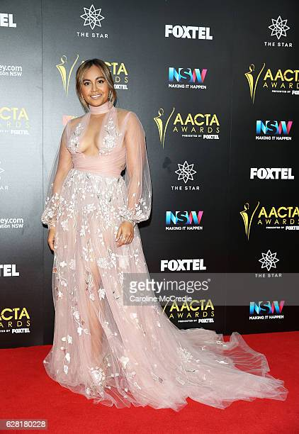 Jessica Mauboy arrives ahead of the 6th AACTA Awards Presented by Foxtel at The Star on December 7 2016 in Sydney Australia