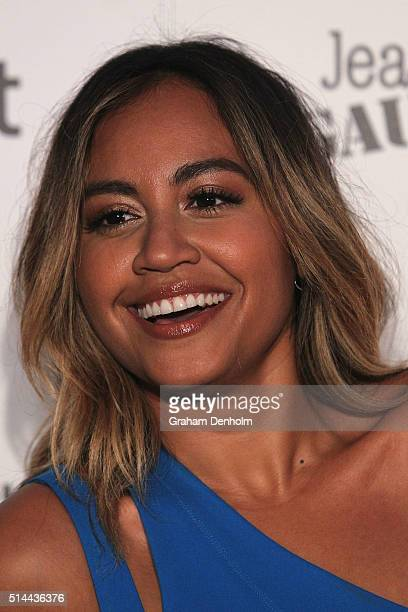 Jessica Mauboy arrives ahead of the Jean Paul Gaultier x Target Launch during Melbourne Fashion Festival on March 9 2016 in Melbourne Australia