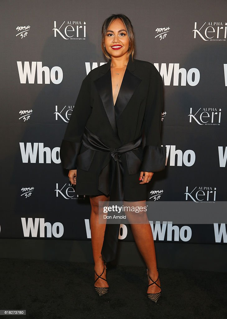 Jessica Mauboy arrives ahead of the WHO Sexiest People Party on October 26, 2016 in Sydney, Australia.