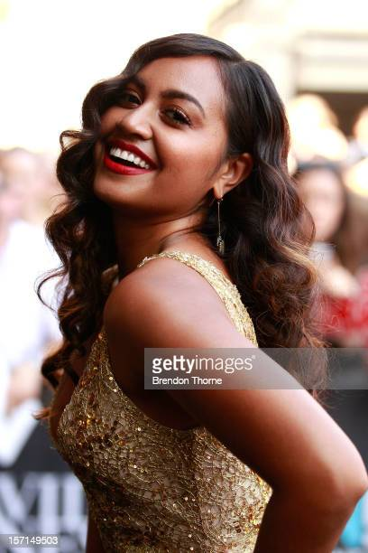 Jessica Mauboy arrives at the 26th Annual ARIA Awards 2012 at the Sydney Entertainment Centre on November 29 2012 in Sydney Australia