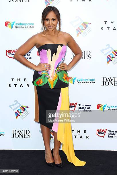 Jessica Mauboy arrives at the 27th Annual ARIA Awards 2013 at the Star on December 1 2013 in Sydney Australia