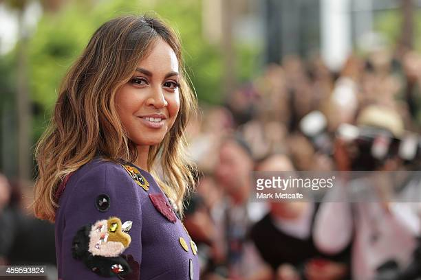 Jessica Mauboy arrives at the 28th Annual ARIA Awards 2014 at the Star on November 26 2014 in Sydney Australia