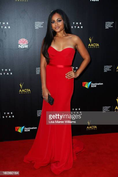 Jessica Mauboy arrives at the 2nd Annual AACTA Awards at The Star on January 30 2013 in Sydney Australia