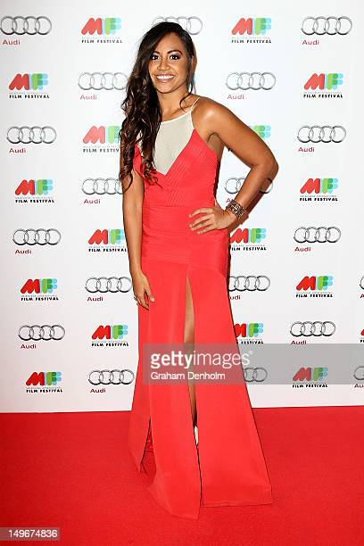 Jessica Mauboy arrives at the Australian Premiere of The Sapphires at the Russell Street Greater Union on August 2 2012 in Melbourne Australia