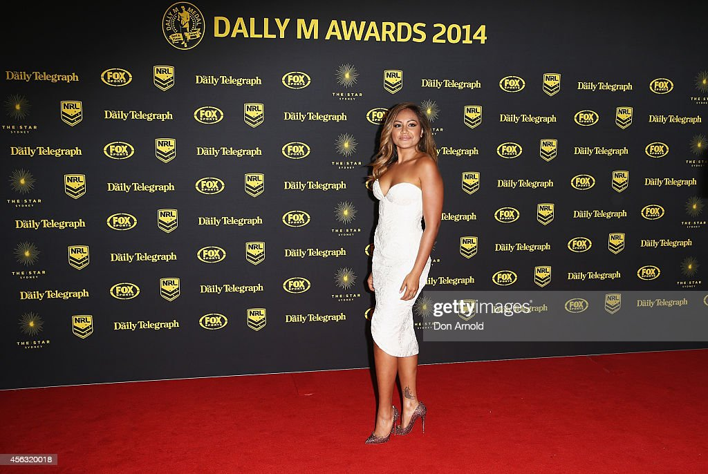 Jessica Mauboy arrives at the Dally M Awards at Star City on September 29, 2014 in Sydney, Australia.