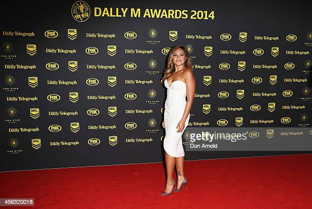 Jessica Mauboy arrives at the Dally M Awards at Star City on September 29 2014 in Sydney Australia